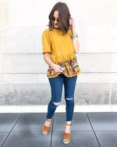 That Thursday feeling 🙈 Loving on all of the detailed things. like this Trendy outfits for summer outfits casual fashion ideas casual summer style Sexy Casual Style Looks Outfits Damen, Fall Outfits, Vacation Outfits, Classy School Outfits, Peplum Top Outfits, Insta Outfits, Girly Outfits, Halloween Outfits, Casual Clothes
