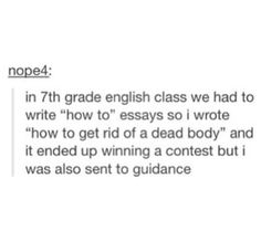 How bad were the other essays?