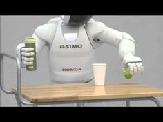 ASIMO - All New Features 2011.  Can even walk over uneven surfaces - for instance, the ground littered with human skulls.