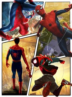 """""""A Spider-Men poster I made"""" Credits to who made this Marvel Comics, Marvel Art, Marvel Heroes, Marvel Avengers, Spiderman Spider, Amazing Spiderman, Marvel Comic Universe, Marvel Cinematic Universe, Best Marvel Characters"""