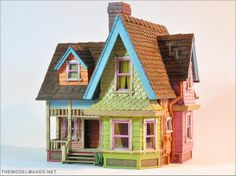 Victorian dollhouse from Disney/Pixar movie Up by themodelmaker
