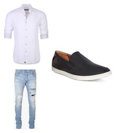 """""""Untitled #463"""" by jamiesowers14 on Polyvore featuring Stone Rose, Balmain, ECCO, men's fashion and menswear"""