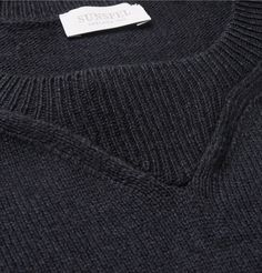 Inspired by the detailing of a classic sweatshirt but crafted with a more considered approach, this <a href='http://www.mrporter.com/mens/Designers/Sunspel'>Sunspel</a> sweater is an investment in cool, casual attire. It has been knitted from a navy merino wool and cotton-blend, balancing softness and insulation with lightweight breathability for the ultimate cover-up.