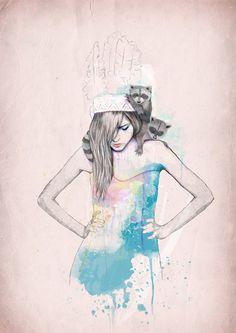 Raccoon Love by Ariana Perez, via Behance