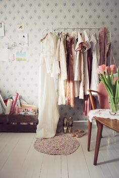 I like the idea of displaying some of your clothes as an art piece in your bedroom.