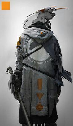 Check out some of the best cyberpunk character concept art online. Arte Ninja, Arte Robot, Robot Art, Character Concept, Character Art, Concept Art, Character Design, Science Fiction, Sci Fi Armor