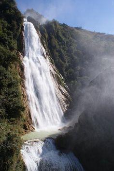 Velo de novia, Cascadas del Ciflón, Chiapas