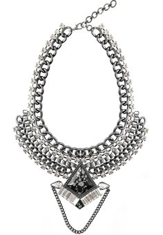 Iris Statement Necklace Her Smile, Iris, Muse, Romance, Dark, Diamond, Collection, Jewelry, Jewellery Making