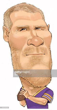 minnesota vikings brett favre caricatures sports  brett favre