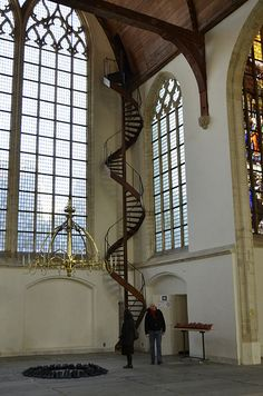 Staircase at the De Oude Kerk / The Old Church , Amsterdam