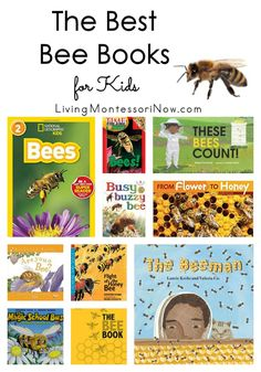 Recommendations for bee books for preschoolers through elementary-age kids. Nonfiction and fiction books for a bee unit. Discusses which books are Montessori friendly.