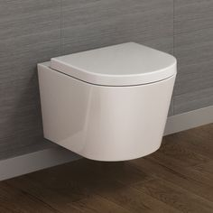 Leon Wall Hung Toilet inc Luxury Soft Close Seat Loft Bathroom, Upstairs Bathrooms, Bathroom Toilets, Downstairs Bathroom, Bathroom Ideas, Small Shower Room, Small Showers, Shower Rooms, Floating Toilet