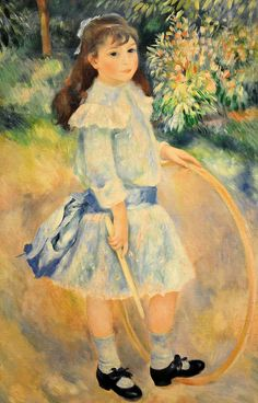 Pierre Auguste Renoir - Girl with a Hoop at National Art Gallery Washington, DC by mbell1975, via Flickr