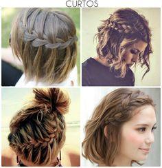Inspiração: tranças - Moda it Braids For Short Hair, Short Hair Cuts, Short Hair Styles, Cute Hairstyles, Braided Hairstyles, Hair Inspo, Hair Inspiration, Stylish Hair, Bad Hair Day