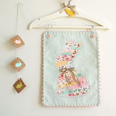 Gorgeous bunny wall hanging from the ever so talented Amy at nanacompany