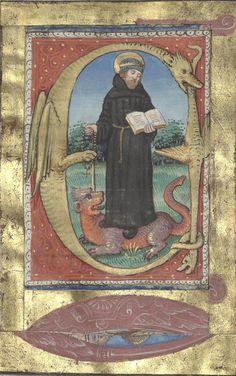Bibliothèque de l'Arsenal, Ms-640 réserve, detail of f.101v. Book of Hours (1533) На льва и на змею наступишь, растопчешь молодого льва и дракона. Пс.90:13
