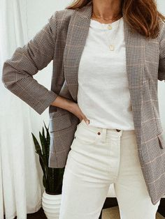 Elegantes Business Outfit, Elegantes Outfit, Mode Outfits, Fall Outfits, Fashion Outfits, Outfits For Work, Early Spring Outfits, Simple Outfits, Fashion Trends