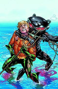 """AQUAMAN # 2 """"EL ahogamiento,"""" Capítulo dos: En la edición # 2, la unidad entre la tierra y el mar es el mayor sueño de Arthur Curry.  Pero Negro Manta tiene un sueño demasiado: para destruir todo lo que significa Aquaman, empezando por la embajada del rey Atlante mar y todos en él"""
