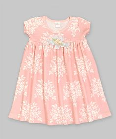 Loving this Bella Brocade Floral Lace Babydoll Dress - Infant on #zulily! #zulilyfinds