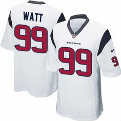 c43aaa0b406 New Youth White Nike Game Houston Texans #99 J.J. Watt NFL Jersey | All Size