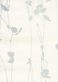 Tapete Rasch Blumen blau-creme metallic 764543