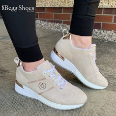 Bugatti Ivory Beige Womens trainers are available in-store and online for Begg Shoes are official stockists of Bugatti trainers. Beige Trainers, Leather Shoes, Bugatti Fashion, Bags 2014, Sports Luxe, Snug Fit, Comfortable Shoes, Summer Collection