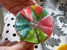 fabric flower tuturial