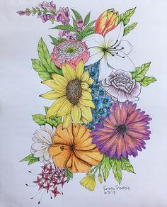 Birth Flower Tattoos, Time Tattoos, Tatoos, Fabric Print Design, Rabbit Drawing, Line Art Design, Cool Small Tattoos, Sunflower Tattoos, Tattoo Designs