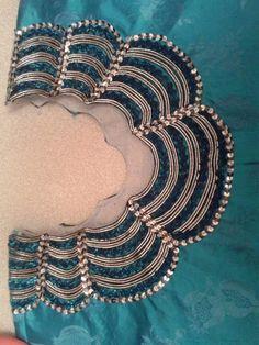 Best 12 Pin by Reman on بجامه برمودا Churidar Neck Designs, Lehenga Designs, Saree Blouse Designs, Abaya Fashion, Fashion Pants, Blouse Neck Patterns, Bead Embroidery Patterns, Neckline Designs, Sleeve Designs