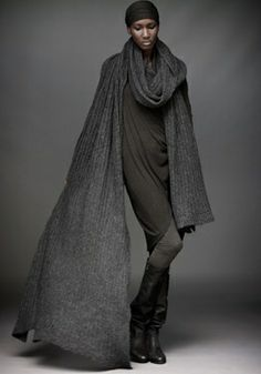 Air Volume Cashmere Scarf (graphite - $1295)Oversized Rib Top (carbon - $1295)