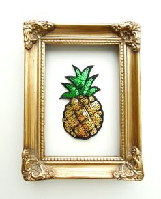 Pinapple iron-on patch Sequin pinapple patch Iron on patch