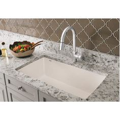 "Blanco Diamond 32.5"" x 18.5"" Undermount Kitchen Sink & Reviews 