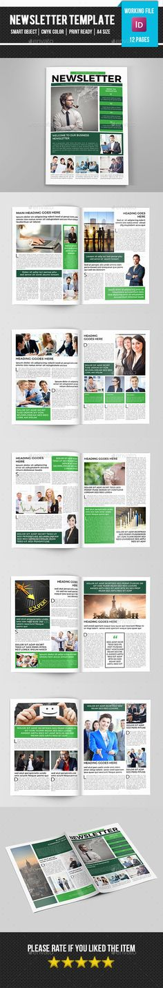 BW Newspaper Template Print templates, Newsletter templates and - sample business newsletter