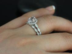 Christie Sweetheart Size 14kt White Gold Morganite by RosadosBox