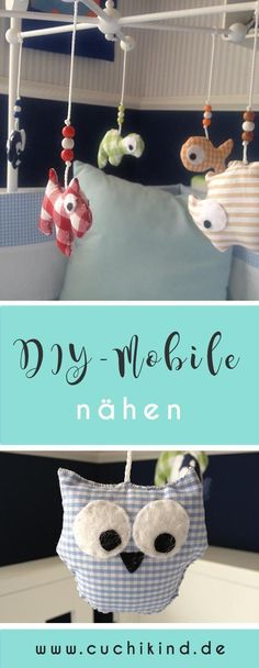 Mobile mit selbstgenähten Tieren – Cuchikind DIY: Make mobile with self-sewn animals for the baby room Diy For Teens, Diy Crafts For Kids, Travel Nursery, Diy Mode, Baby Mobile, Animal Crafts For Kids, Mobiles, Diy Furniture Plans, Happy Baby