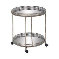 Barrister Mirrored Bar Cart
