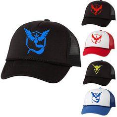 Pokemon Go Baseball Black Cap Team Mystic InstInct Valor  Hat Christmas Gift