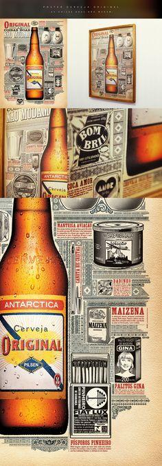 Client: Original Beer - Head of design: Marcos Kotlhar - Design: Pedro Zuccolini, Marcos Kotlhar, Fabio Girardi - Illustration: Pedro Zuccolini, Fabio Girardi.