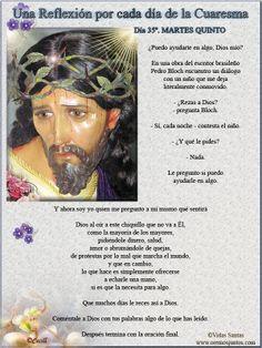 Vidas Santas: Una Reflexión por cada día de la Cuaresma Día 35º....