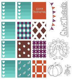 free thanksgiving printable planner stickers