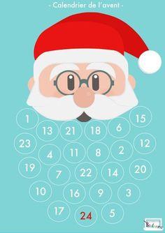 Coller chaque jour un coton pour faire la barbe du père Noël !: