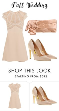 """brown"" by yuliabdrd ❤ liked on Polyvore featuring Miu Miu, Rupert Sanderson, Valentino and fallwedding"