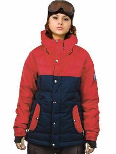 New Womens Bonfire Astro Insulated Snowboard Jacket Medium Midnight