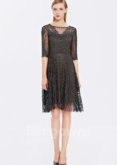 Embroidery Bateau Zipper Dacron Short Length A-line Lace Sleeves Homecoming & Prom Dresses Cheap Cocktail Dresses, Prom Dresses, Formal Dresses, Homecoming, Zipper, Embroidery, Lace, Sleeves, Fashion