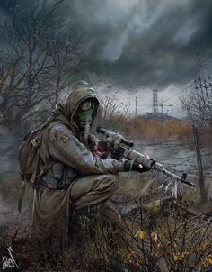Top 15 best fallout 4 snipers that you should totally check out. These sniper list is too good to pass if you're seriously trying to with a sniper build. Metro 2033, Apocalypse World, Apocalypse Art, Post Apocalyptic Art, Post Apocalyptic Fashion, Cyberpunk, Larp, Fallout Art, Military Art