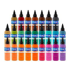 Intenze Tattoo Ink Set  7 Best Selling Primary Colors 12 oz *** You can get more details by clicking on the image. Note:It is Affiliate Link to Amazon.