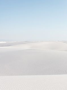 White Sands National Monument — the largest gypsum sand field in the world
