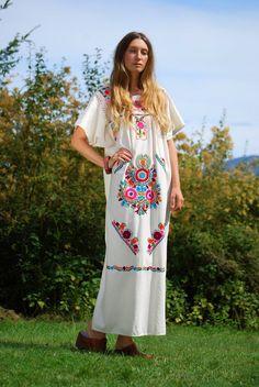 Boho maxi dress 70s hippy