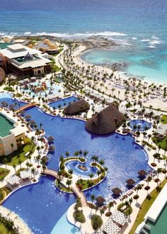 """Ooh. I love the looks of this pool. """"Barcelo Maya Palace Resort, a great resort."""" www.allabouttravel.org www.facebook.com/AllAboutTravelInc 605-339-8911 #travel #vacation #explore #mexico #rivieramaya #family #honeymoon #barcelo"""