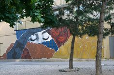 A mural in St. James Town (east of Sherbourne), in Toronto.